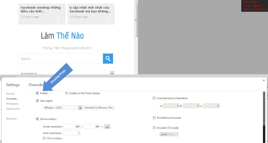 Chrome Dev Tools - Override