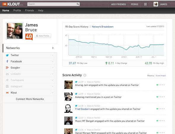Klout – Một ứng dụng web thống kê các hoạt động xã hội được xây dựng dựa trên Node.js vì ưu điểm tốc độ thực thi cao