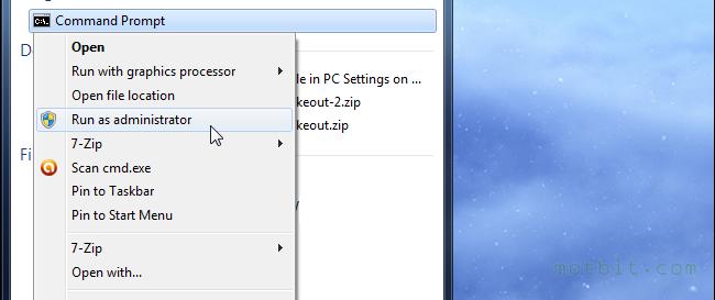 windows key + x